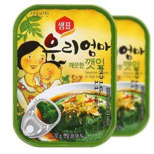【センピョ】えごまの葉キムチ缶詰70g
