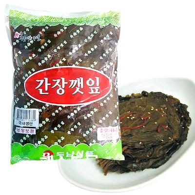 【ドゥナム】 業務用 ごまの葉 醤油漬け (4kg)
