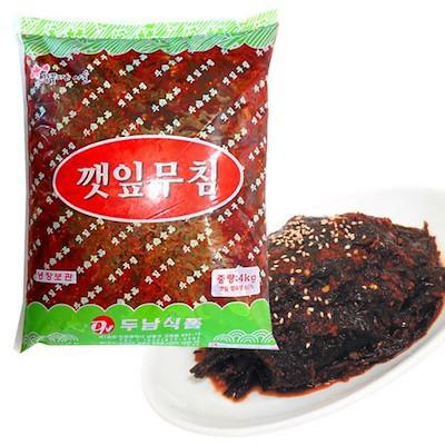 【ドゥナム】 業務用 ごまの葉 辛味噌漬け (4kg)