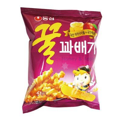 『農心 ノンシム』蜂蜜クァベギ ハチミツスナック(90g)[韓国お菓子]