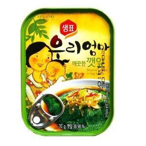 送料無料『センピョ』えごまの葉キムチ缶詰(70gx3個)メール便