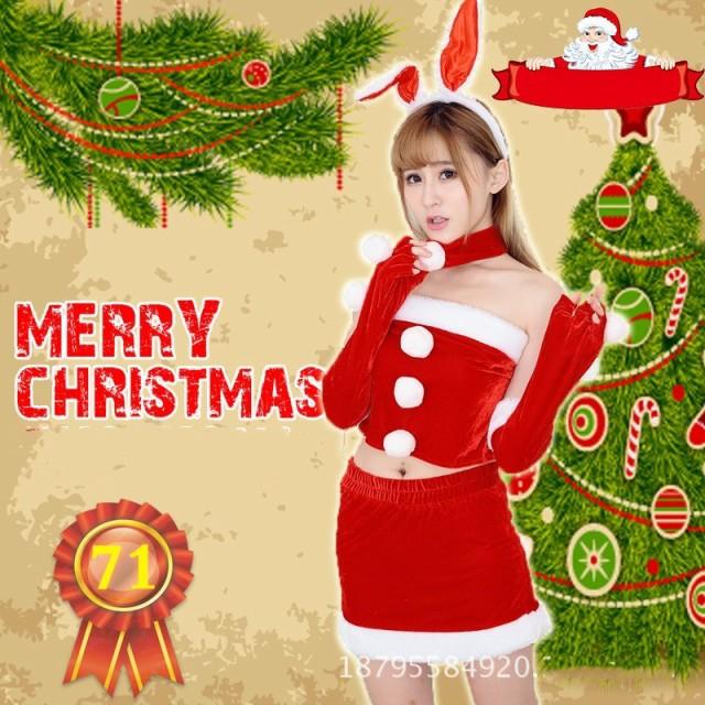 クリスマス サンタ コスプレ 衣装 レディース サンタクロース 仮装 コスチューム セクシー ミニスカートト 6点セット 新作