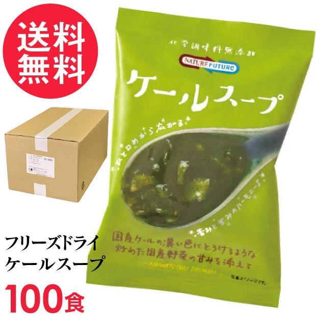 フリーズドライ ケールスープ(100食入り) 高級 厳選 ケール キャベツ 野菜 スープ コスモス食品 インスタント