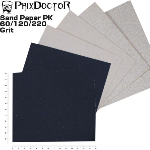 PHIX DOCTOR サンドペーパー ヤスリ 紙やすり 6枚 サーフボード リペア 修理 SandPaper 6 pack フィックスドクター