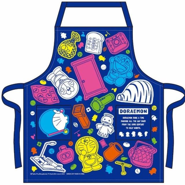 ドラえもん キャラクター 子供用 エプロン 110cm キッズ 幼稚園 保育園 餅つき 料理 こども No.02820-18