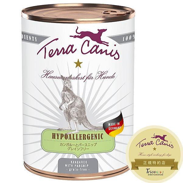 最短賞味2023.7・テラカニス 犬 ハイポアレルジェニック カンガルー肉 400g缶 コンプリート食ドッグフードTerraCanis正規品
