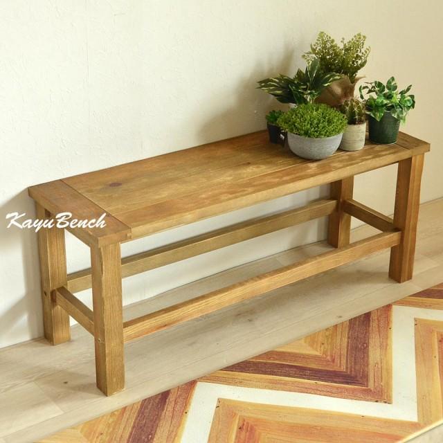 KAYU(カユ) ベンチ ダイニングベンチ 幅103cm 食卓テーブル 木製 天然木 北欧 おしゃれ かわいい アンティーク レトロ リサイクル 廃材