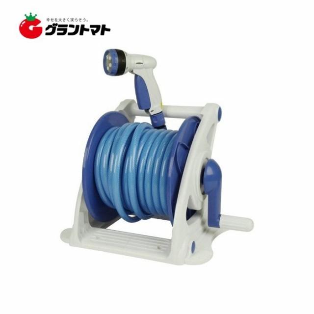 散水ホースリールセット SHR-20M 12mm×20m 5パターンノズル付き セフティー3 藤原産業
