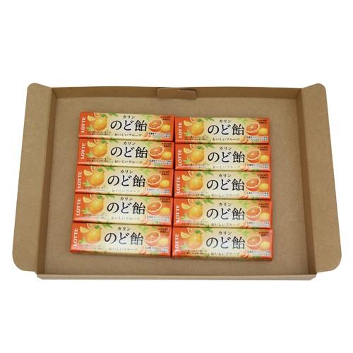 (メール便で送料無料) ロッテ フルーツのど飴 11粒 10コ入り メール便