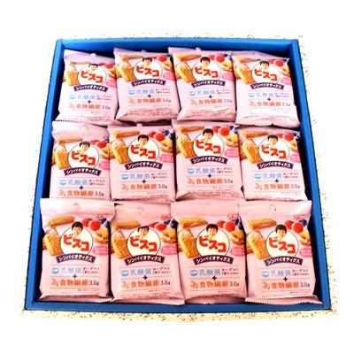 おかしのマーチ グリコ ビスコ シンバイオティクス ブルーベリー&ラズベリー味 (5枚×2パック) 36個 ギフト セット C
