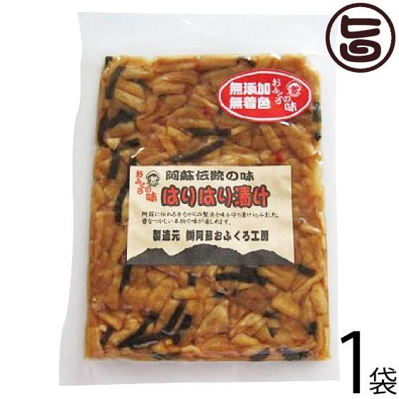 阿蘇おふくろ工房 はりはり漬け 100g×1袋 熊本県 菊池産の冬季収穫大根を使用 阿蘇の昔ながらの製法 伝統の漬け 無添加 無着色 条件付