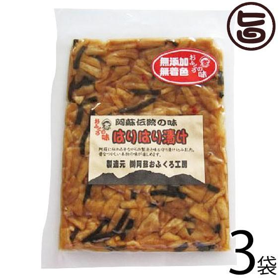 阿蘇おふくろ工房 はりはり漬け 100g×3袋 熊本県 菊池産の冬季収穫大根を使用 阿蘇の昔ながらの製法 伝統の漬け 無添加 無着色 条件付