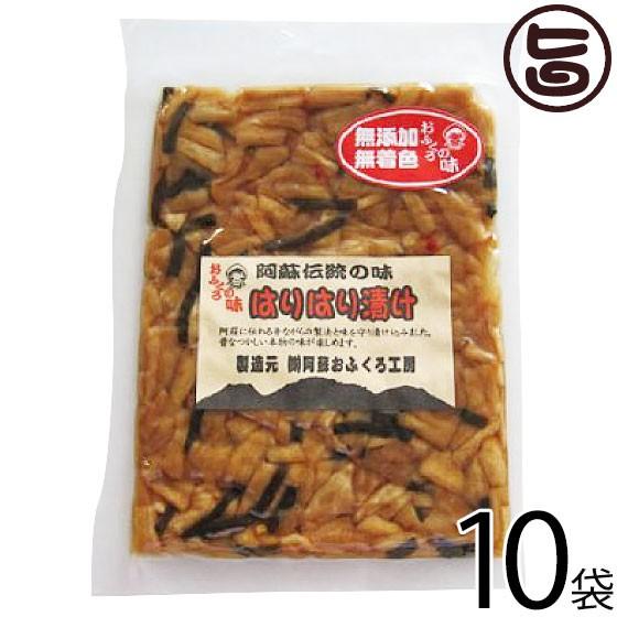 阿蘇おふくろ工房 はりはり漬け 100g×10袋 熊本県 菊池産の冬季収穫大根を使用 阿蘇の昔ながらの製法 伝統の漬け 無添加 無着色 条件付