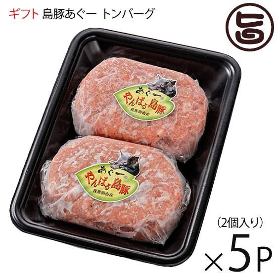 ギフト フレッシュミートがなは ハンバーグ やんばる島豚あぐー 黒豚 トンバーグ 150g×2個入り×5P 沖縄 土産 アグー あぐー 貴重 肉 人