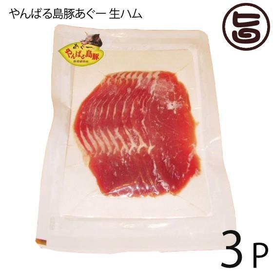 フレッシュミートがなは やんばる島豚あぐー ≪黒豚≫ 生ハム 100g×3P フレッシュミートがなは 沖縄 土産 アグー あぐー 貴重 肉 人気