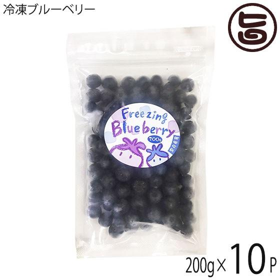 冷凍ブルーベリー200g×10P 無農薬栽培 安心 安全 条件付き送料無料