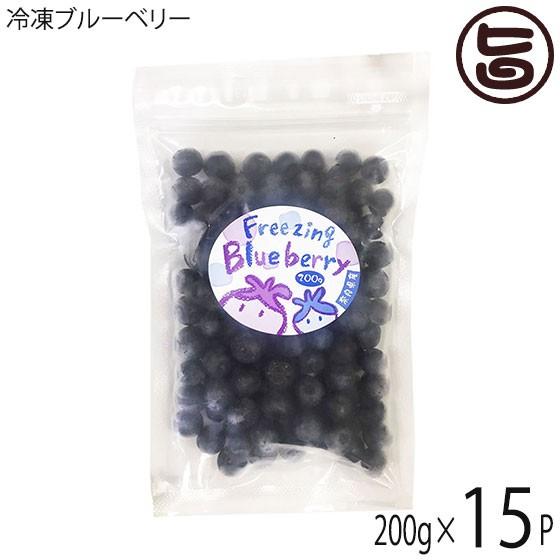 冷凍ブルーベリー200g×15P 無農薬栽培 安心 安全 条件付き送料無料