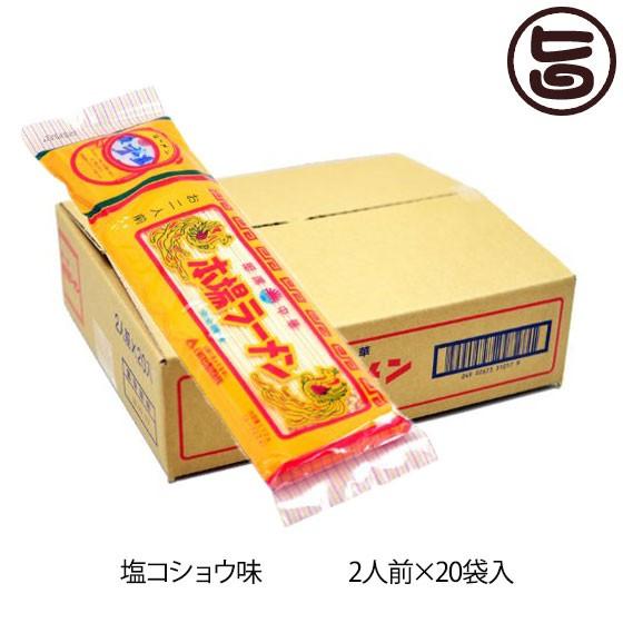 日の出製粉 塩コショウ味 本場ラーメン 2人前20入 ノンフライ麺 熊本 土産 ご当地 ラーメン 送料無料