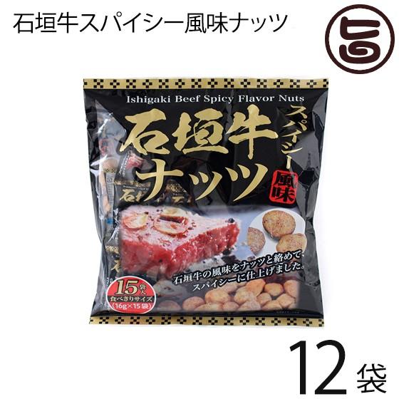沖縄パイオニアフーズ 石垣牛スパイシー風味ナッツ 16g×15袋入り×12袋 沖縄 土産 定番 人気 おつまみ 個包装 食べきりサイズ 送料無料