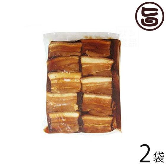 サン食品 味付三枚肉 約50枚入り 1kg×2袋 沖縄 土産 人気 豚肉 調理済み 豚バラ肉 沖縄そばのトッピング 琉球料理に 送料無料