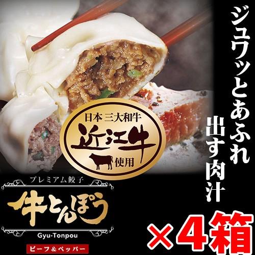 牛とんぽう 4箱 滋賀県 関西 人気 餃子 焼くだけ 簡単 条件付き送料無料