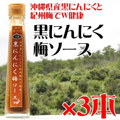 黒にんにく梅ソース 120ml×3本 沖縄 健康管理 調味料 送料無料