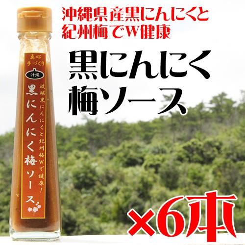 黒にんにく梅ソース 120ml×6本 沖縄 健康管理 調味料 送料無料