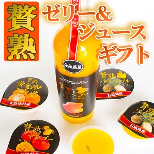 ギフト!贅熟ジュース&ゼリー詰合(マンゴー飲料&ゼリー) 沖縄 国産 フルーツ 送料無料