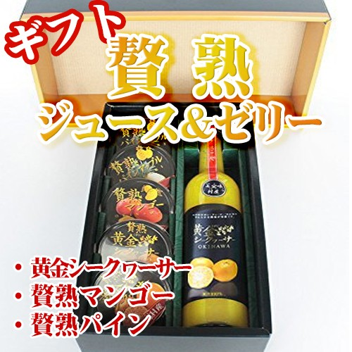 ギフト 贅熟 ジュース&ゼリー詰合 沖縄 国産 フルーツ 送料無料