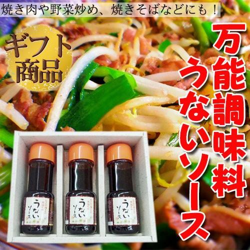 ギフト うないソース 3本セット (ギフト箱入) 沖縄 土産 万能調味料 送料無料