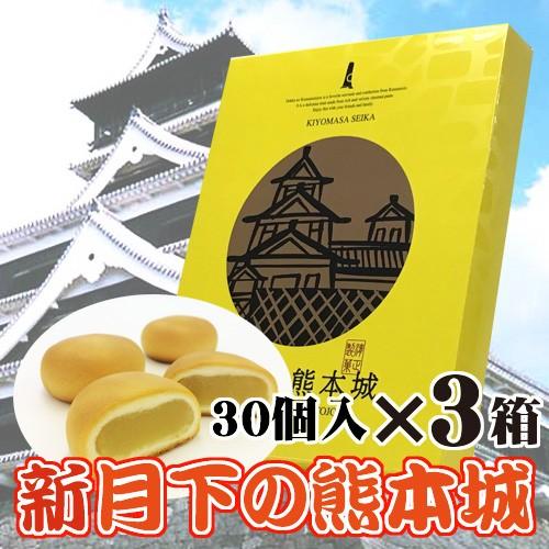 新 月下の熊本城30個入×3箱 熊本県 九州 復興支援 人気 条件付き送料無料