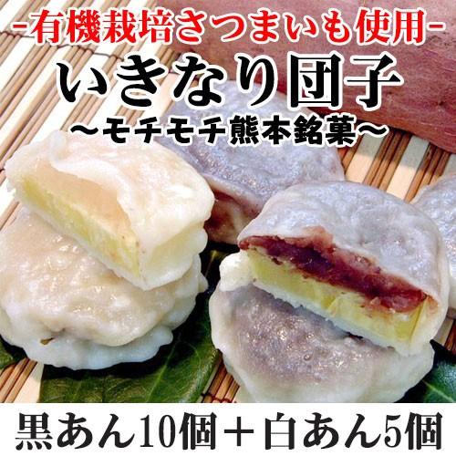 いきなり団子 黒あん10個+白あん5個 熊本県 九州 復興支援 人気 和菓子 条件付き送料無料