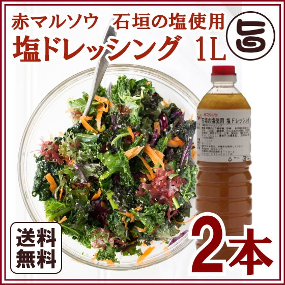 塩ドレッシング 1L×2本 沖縄 人気 ドレッシング お土産 送料無料