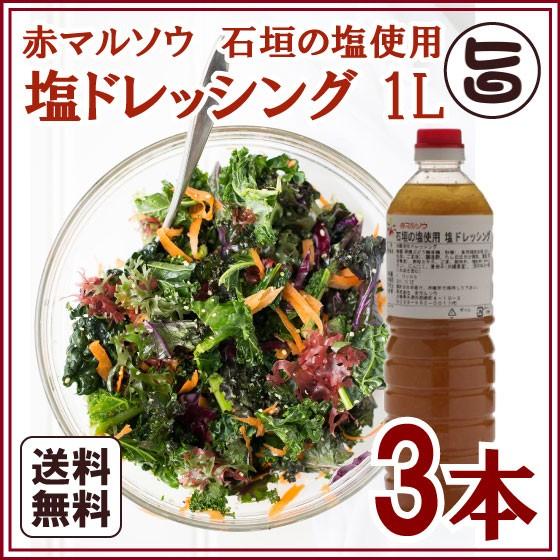 塩ドレッシング 1L×3本 沖縄 人気 ドレッシング お土産 送料無料