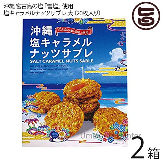 塩キャラメルナッツサブレ大×2箱 沖縄土産 人気 お菓子 焼き菓子 サブレ お土産 送料無料