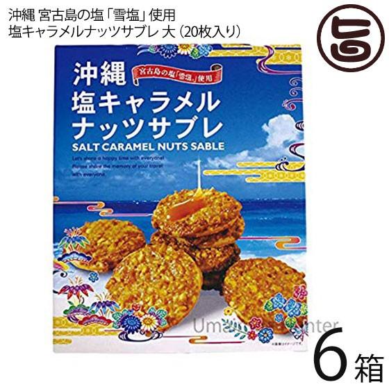 塩キャラメルナッツサブレ大×6箱 沖縄土産 人気 お菓子 焼き菓子 サブレ お土産 条件付き送料無料
