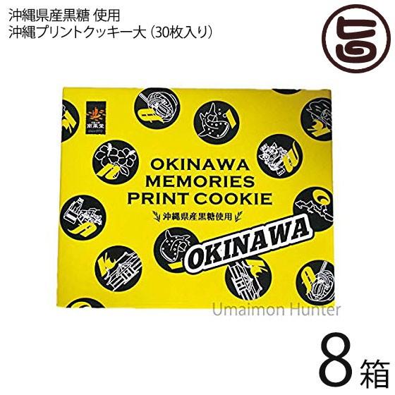 沖縄プリントクッキー大×8箱 沖縄土産 人気 お菓子 焼き菓子 クッキー お土産 送料無料