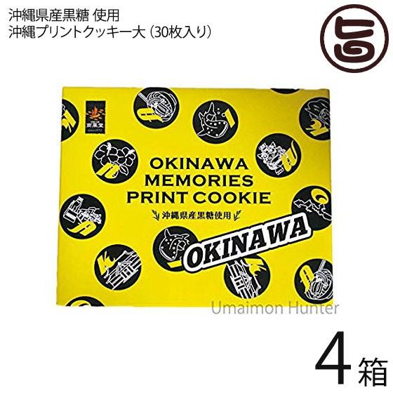 沖縄プリントクッキー大×4箱 沖縄土産 人気 お菓子 焼き菓子 クッキー お土産 条件付き送料無料