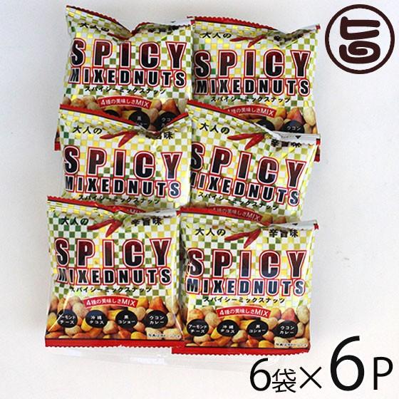 スパイシーミックスナッツ 16g×6袋×6P 旨辛 アーモンド ナッツ チーズ 送料無料