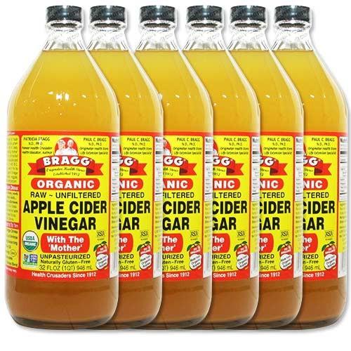 BRAGG ブラグ アップルサイダービネガー リンゴ酢 946mL 6個セット [送料無料]