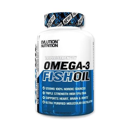オメガ-3 フィッシュオイル Fish Oil 120粒 Evlution Nutrition(エボリューションニュートリション)