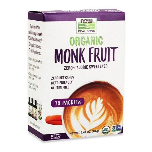 [NEW]オーガニック モンクフルーツ セロカロリー甘味料 70g(2.47oz) 70回分 NOW Foods (ナウフーズ)