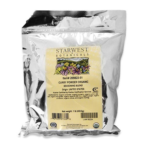 オーガニックカレーパウダー 453.6g (1lbs) Starwest Botanical (スターウエストボタニカルズ)