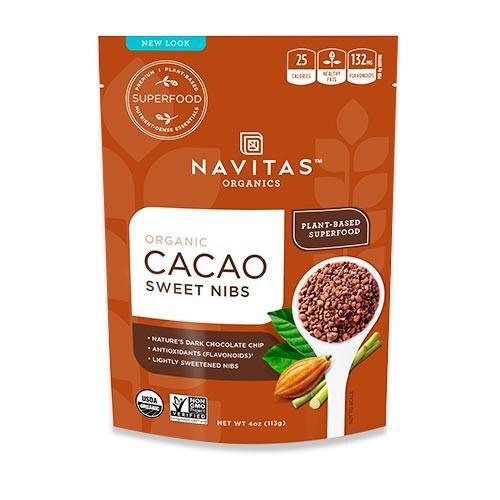 オーガニック カカオスイートニブ 113g(4oz)約28回分 Navitas Organics(ナビタスオーガニックス)