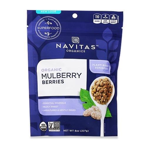 オーガニック マルベリーズ 227g(8oz)約8回分 Navitas Organics(ナビタスオーガニックス)