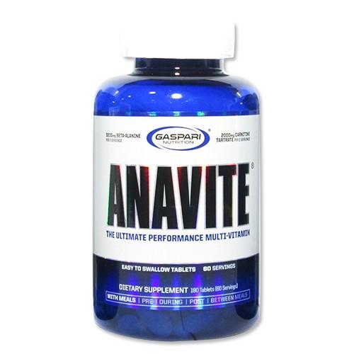 ANAVITE アナバイト マルチビタミン 180粒 Gaspari Nutrition(ギャスパリ ニュートリション)