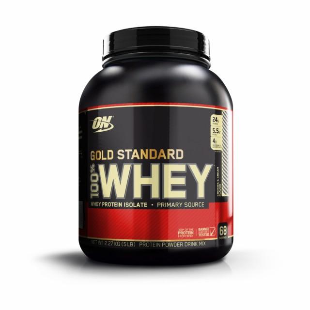 【正規代理店】ゴールドスタンダード 100%ホエイプロテイン クッキー クリーム味 2.27kg