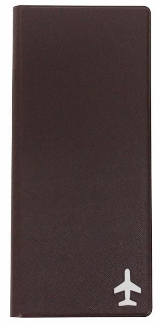 FE-010-BR パスポートカバー ブラウン(L)FENICE パスポートケース スキミング防止 航空券 SIMカードホルダー付きファスナーポケット