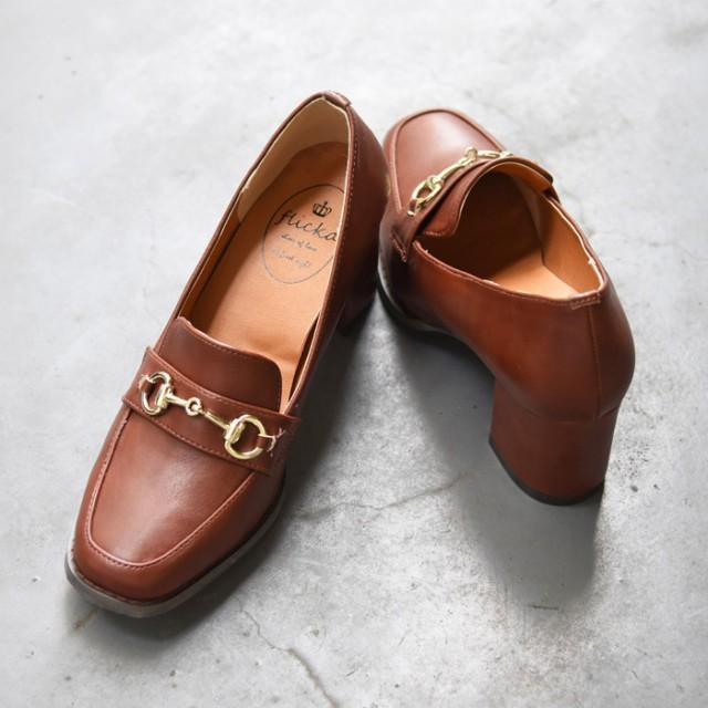 【送料無料】靴 レディース シューズ パンプス ローファー マニッシュ ビット ハイヒール おしゃれ かわいい 黒 ブラック ブラウン 美脚