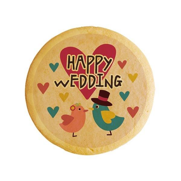 メッセージクッキーHappy Wedding(トリ)